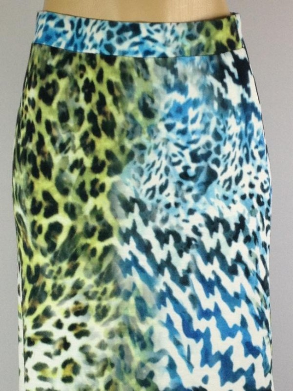 SAIA COMPRIDA ANIMAL PRINT
