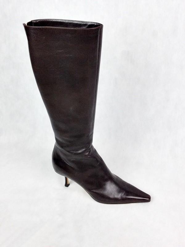 85be6a53a Bota De Salto Medio - Jimmy Choo - Feminino - Sapatos - Botas