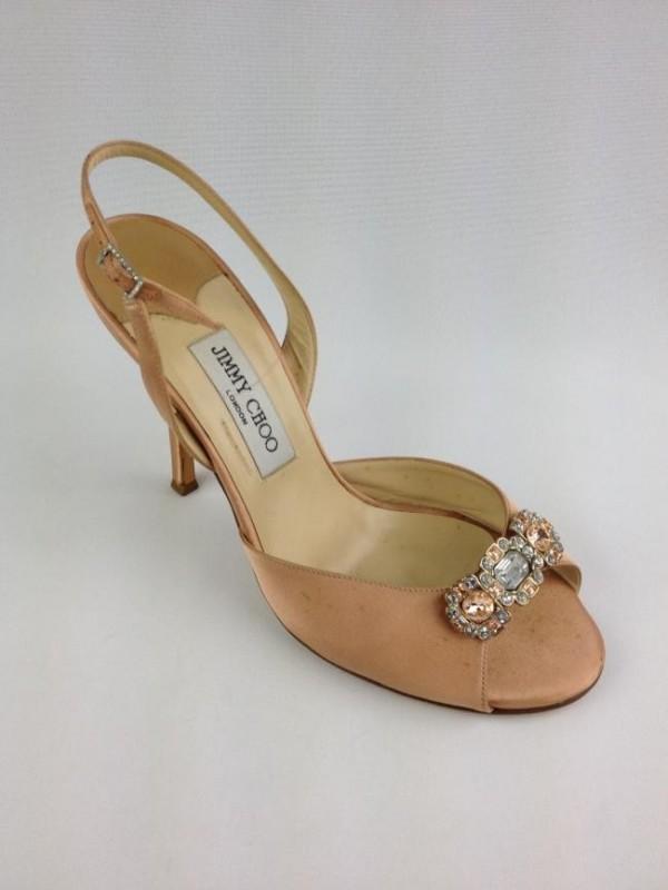 f4df0aa91c Sandalia De Cetim Com Pedras - Jimmy Choo - Feminino - Sapatos ...