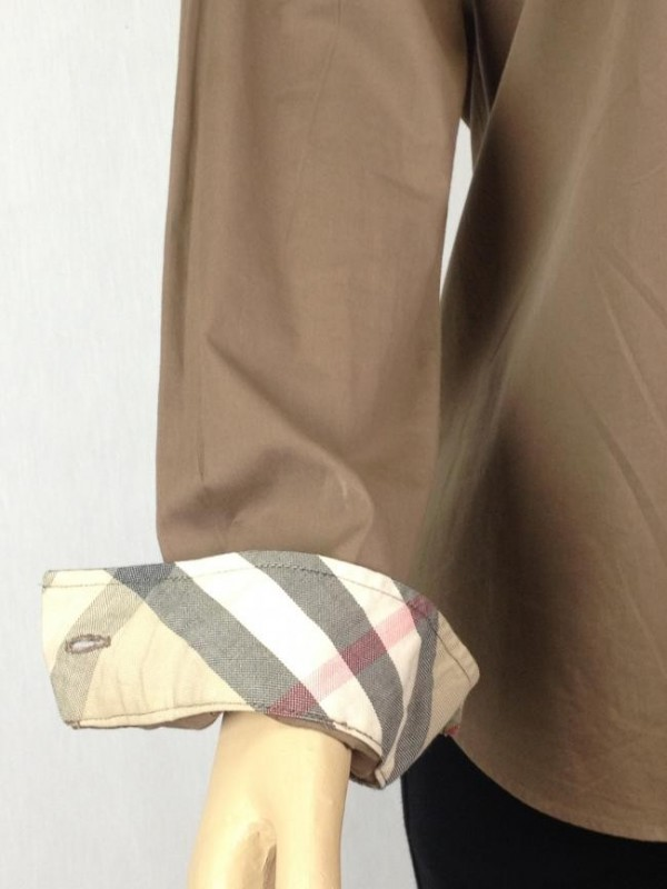 CAMISA CHOCOLATE BURBERRY