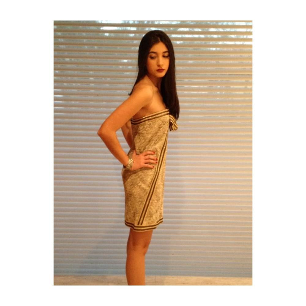 db8e8aa976 Vestido Curto Dourado - Missoni - Feminino - Roupas - Vestidos