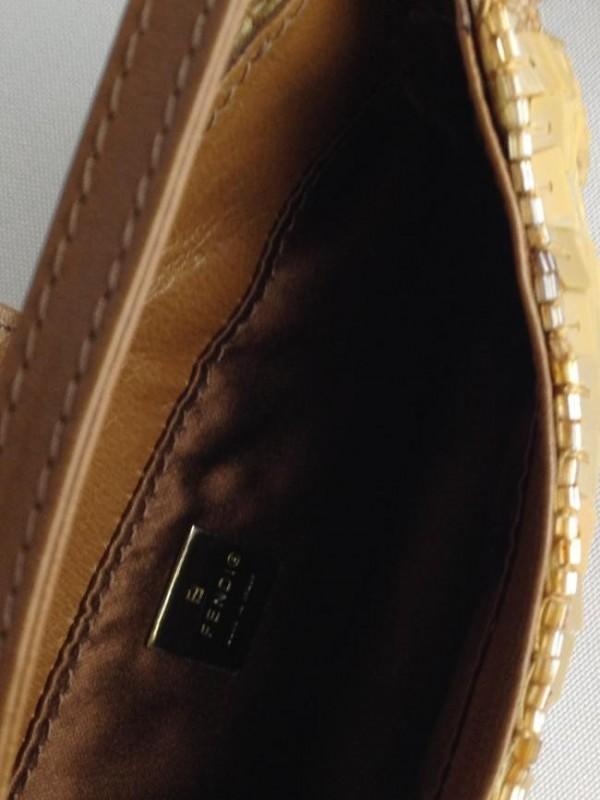 MINI BAGUETTE HAND BAG BEADED WRIST CLUTCH