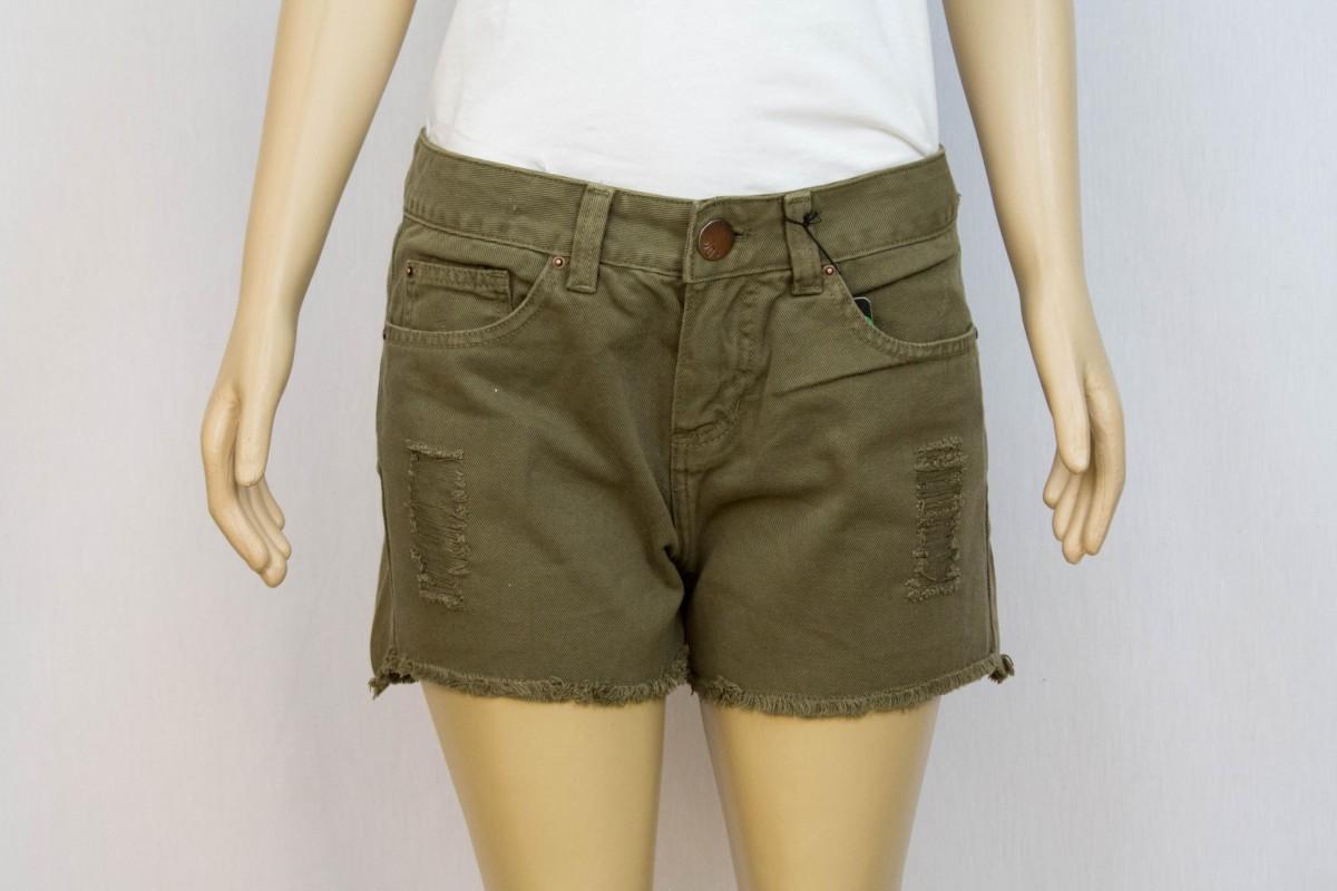 Shorts Jeans Verde Militar