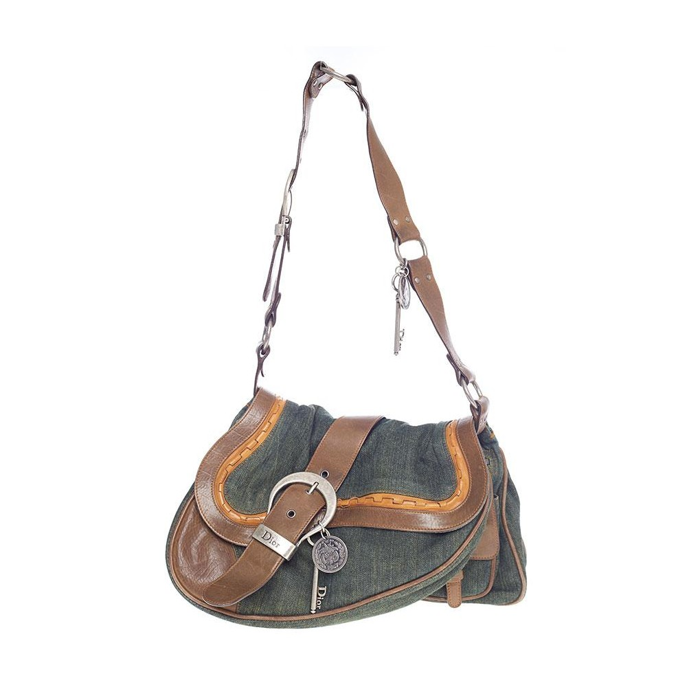 3c7c876dc Green Denin Double Gaucho Saddle Bag - Christian Dior - Feminino ...