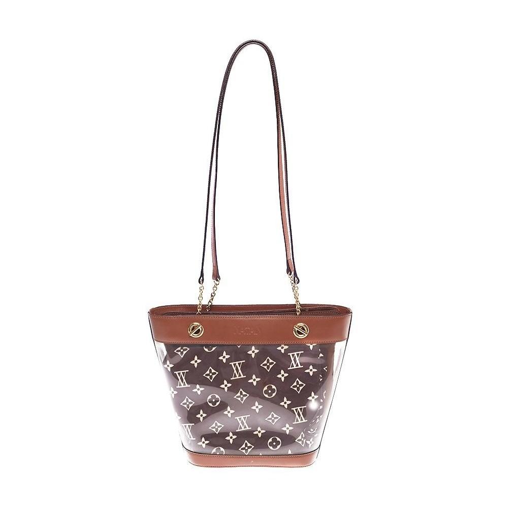 901a05458 Bolsa De Couro E Correntes - Outras Marcas - Bolsas femininas