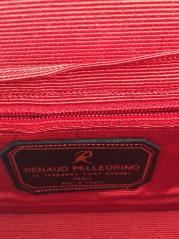 BOLSA RENAUD PELLEGRINO RED VELVET WITH ACCENTED STONE