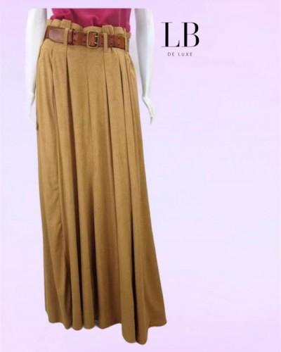 SAIA LONGA DE CAMURÇA CASUAL DRESSES